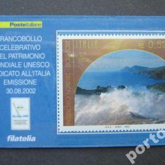 марка Италия 2002 Рим море карточка MNH
