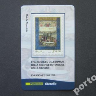 марка Италия 2010 живопись икона карточка MNH