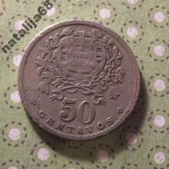 Португалия 1945 год монета 50 сентаво !