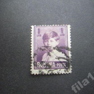 марка Румыния 1928 стандарт 1 леи