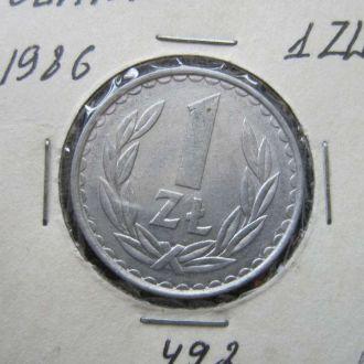 1 злотый Польша 1986
