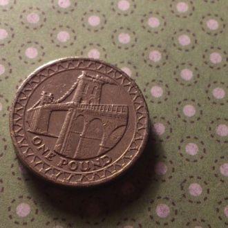 Великобритания монета 1 фунт 2005 год !