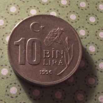 Турция 1996 год монета 10 000 лир !