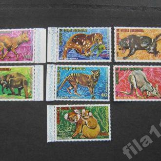 7 марок Гвинея Экваториальная фауна Австралии