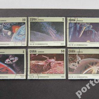 6 марок Куба 1985 космос