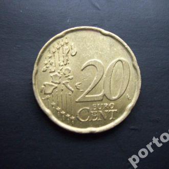 20 евроцентов Италия 2002