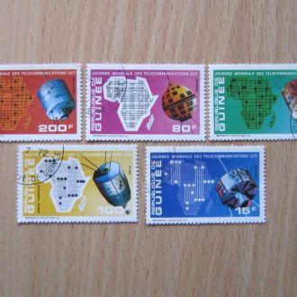 6 марок Гвинея космос связь