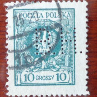 Польша, Михель№205-4.5эвро/перфор/