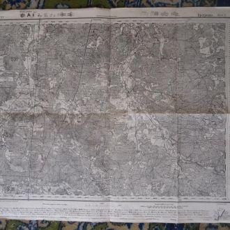 немецкая военная карта 1941 Березно