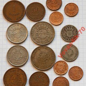 МОЗАМБИК - набор монет колониального периода