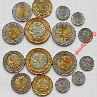 МЕКСИКА - набор современных монет - 8 сет
