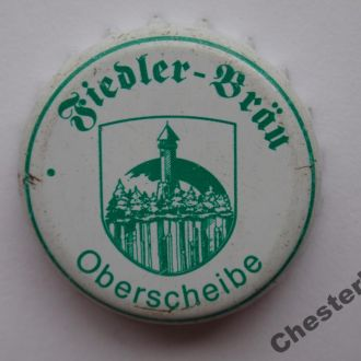 """Пивная крышка """"Fiedler-Brau"""" (Германия) редкая"""