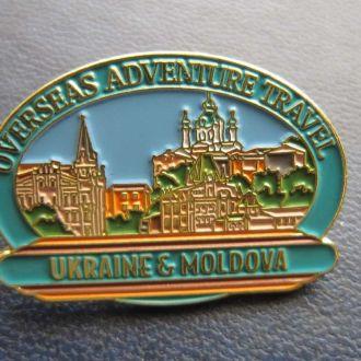 значок туризм Украина Молдавия тяжёлый клипса