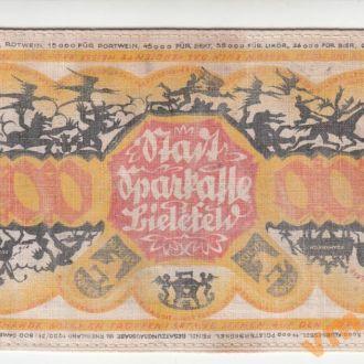 Германия 1000 марок 1922 год ТКАНЬ