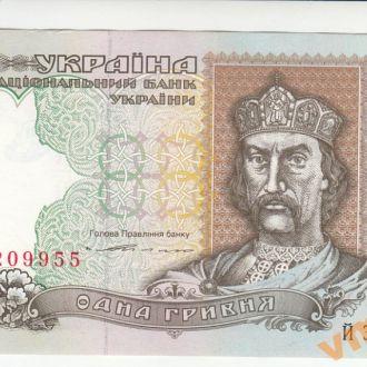 1 гривна 1994 год Ющенко серия ЙЗ UNC