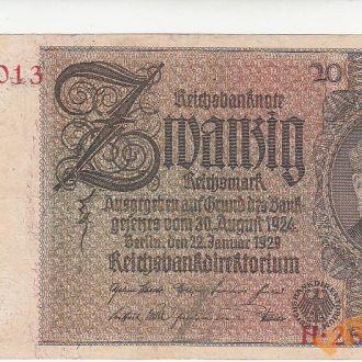 Германия 20 марок 1929 год СОСТОЯНИЕ