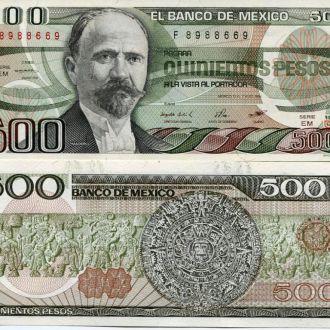 Мексика 500 песо 1984 UNC пресс