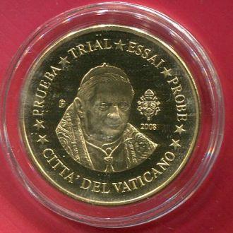 Ватикан 10 центов 2008 ПРУФ Проба из набора!