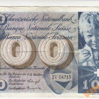 ШВЕЙЦАРИЯ 100 франков 1956 год