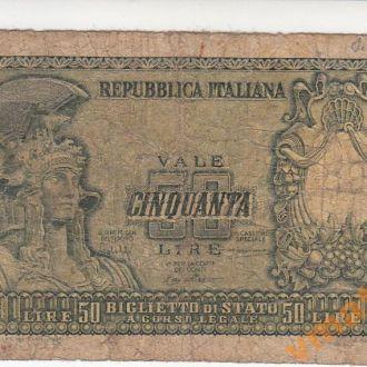 ИТАЛИЯ 50 лир 1951 год