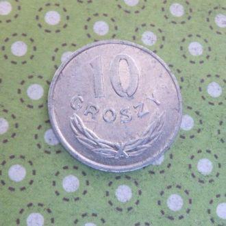 Польша монета 10 грош 1977 год !