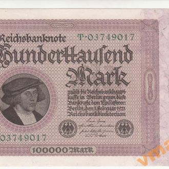 Германия 100000 марок 1923 год UNC-aUNC