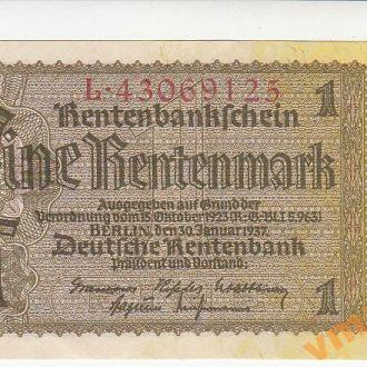 Германия 1 рентенмарка 1937 год СОСТОЯНИЕ