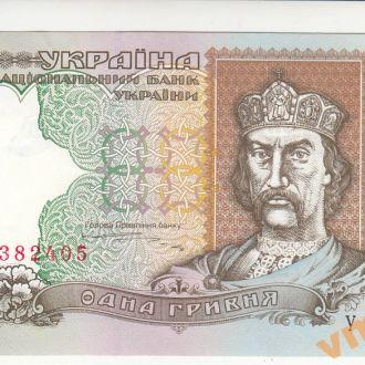 1 гривна 1995 год Ющенко серия УГ UNC