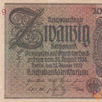 Германия 20 марок 1929 год