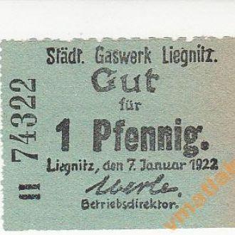 Легница Лигниц Liegnitz 1 пфенинг 1922 год