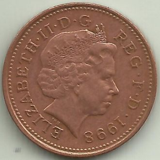 Великобритания Элизабет II пенни 1998