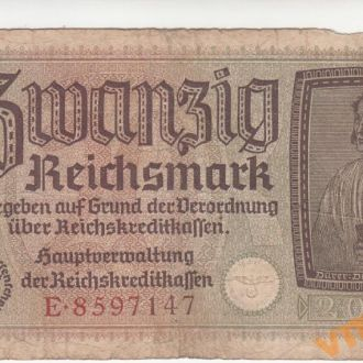 Германия 20 рейхсмарок 1940-1945 год