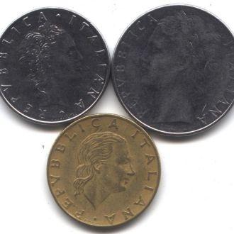 Италия 50+100+200 лир 1979