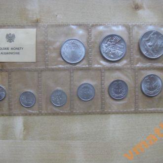 Польша банковский набор монет 1949-1976 гг