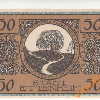 Германия Нотгельд Ettenheim 50 пфеннигов 1922 год
