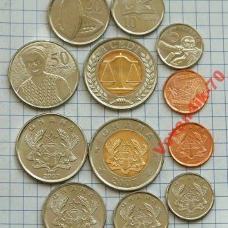 ГАНА набор монет  6 сет