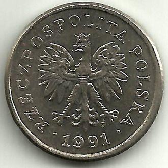Польша 20 грошей 1991