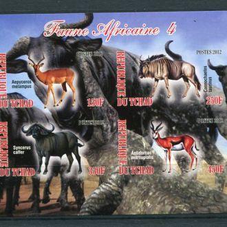 Чад Животные африканских тропиков лот 2
