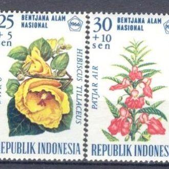 Индонезия 1966 цветы флора ** о