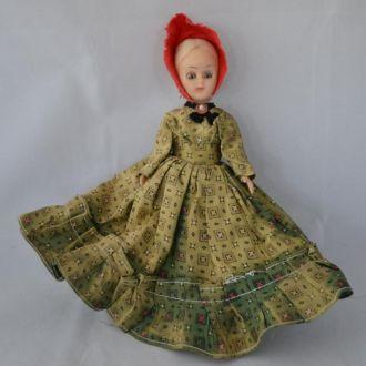 Кукла в красной шляпке, 18см, пластик, 50-е, США