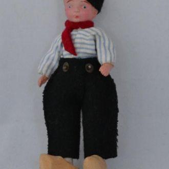 Кукла кломпы Волендам-1 10см целлулоид Япония 50е