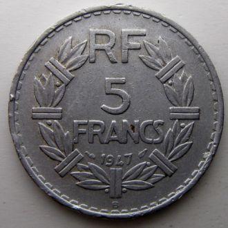 Франция 5 франков 1947 год (B)