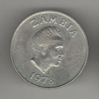 Замбия 10 центов 1978 г.