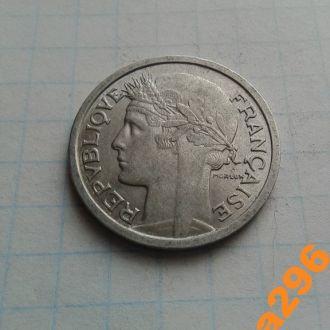 Франция 1958 год монета 1 франк