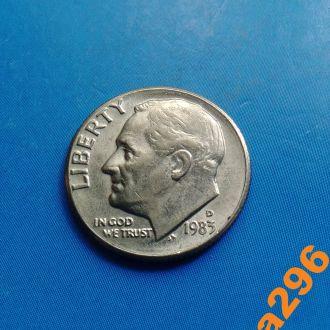 США 1983 год монета 10 центов (D)
