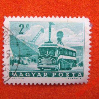 марки-Венгрия-1963г- авто