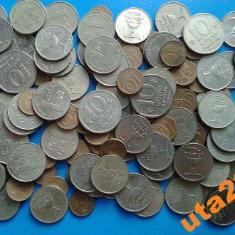 Монеты Израиля разные 130 штук