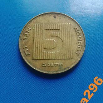 Израиль монета 5 агор