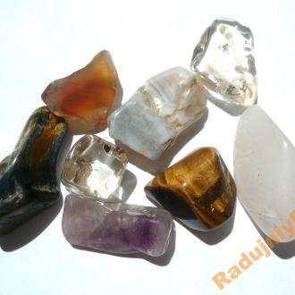 Ассорти полированных камней набор 8 шт