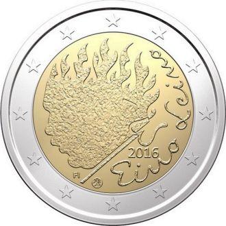 Финляндия, 2 евро 2016 год Эйно Лейно